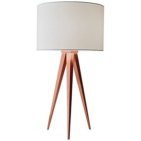 Director Brushed Copper Tripod Table Lamp