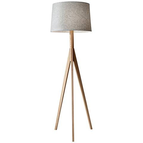 lamp lighting wooden tripod floor sale spot enamel light for lamps master blue f furniture id industrial martha m