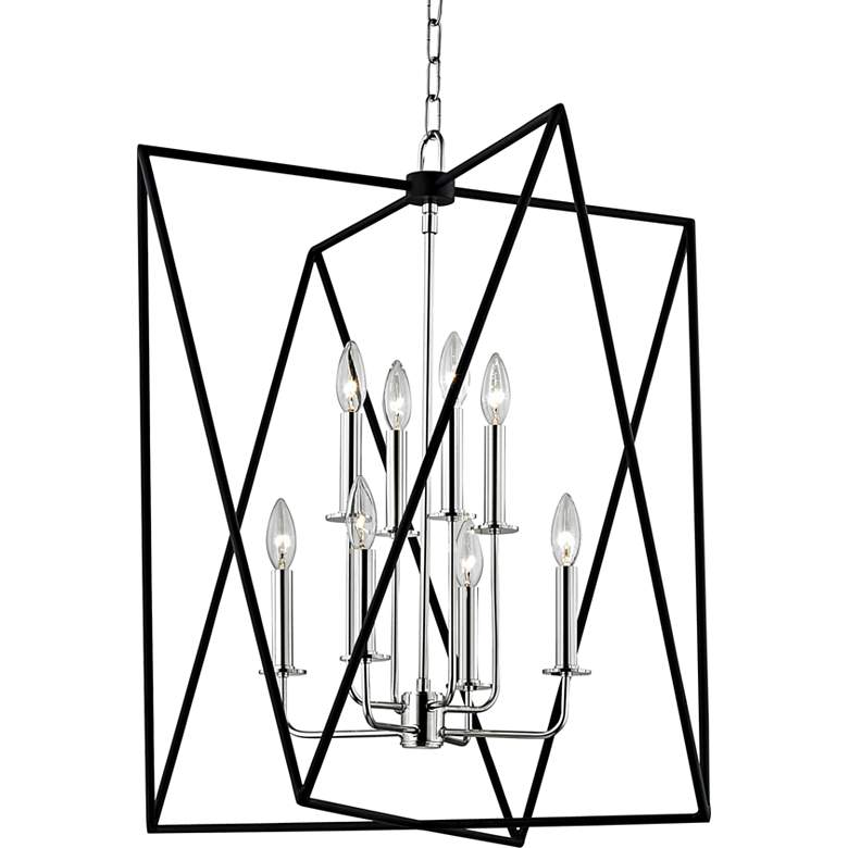 "Hudson Valley Laszlo 28 3/4""W Polished Nickel Pendant Light"