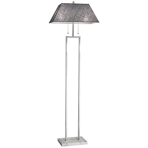 Chambers Brushed Steel Floor Lamp