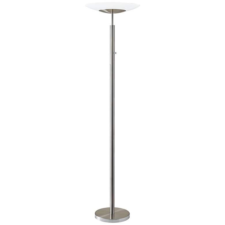Stellar Brushed Nickel LED Torchiere Floor Lamp
