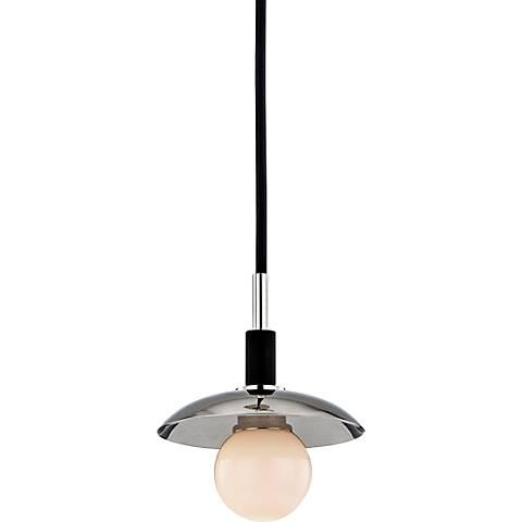 "Hudson Valley Julien 4 3/4"" Wide Nickel LED Mini Pendant"