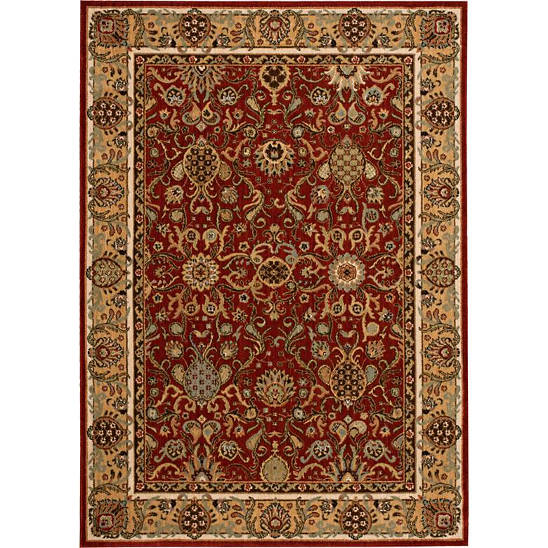 Kathy Ireland Lumiere KI602 Brick Wool Area Rug