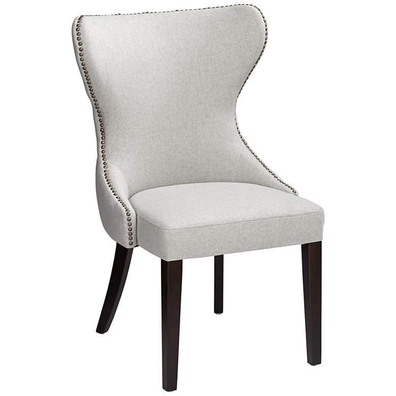 Ariana Light Gray Fabric Dining Chair