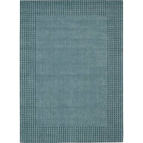 Nourison Cottage Grove KI700 Ocean Wool Area Rug