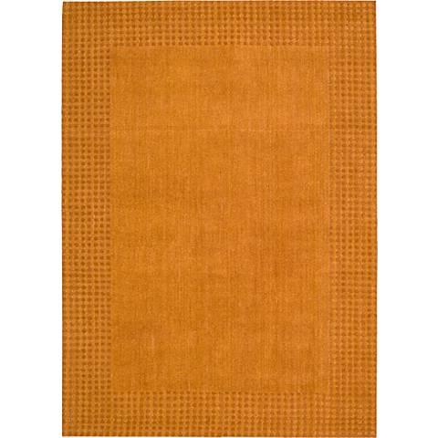 Nourison Cottage Grove KI700 Terracotta Wool Area Rug