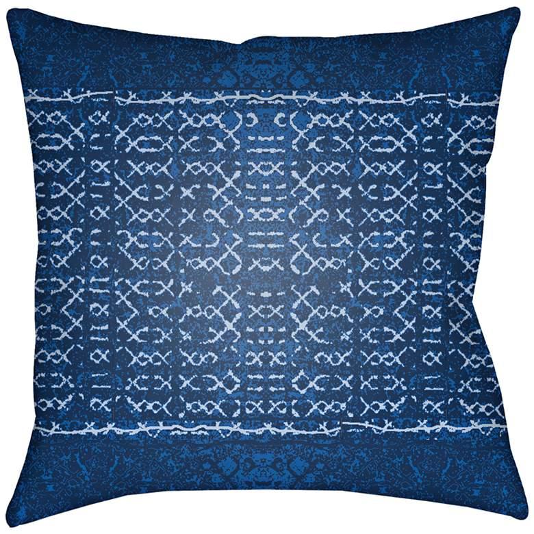 """Surya Allyson Blue 18"""" Square Indoor-Outdoor Pillow"""