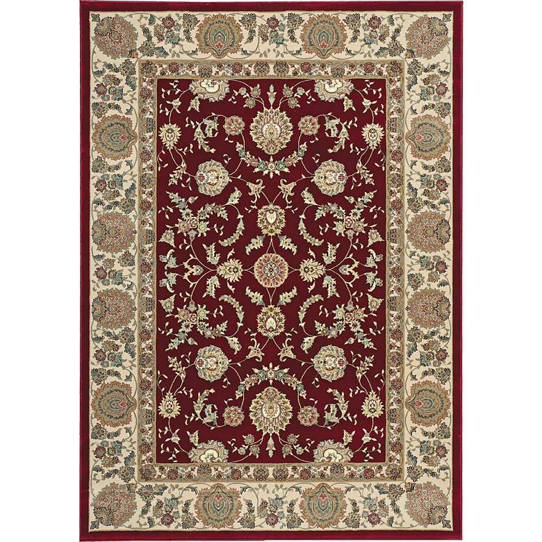 "Kathy Ireland Antiquities ANT01 5'3""x7'4"" Garnet Rug"