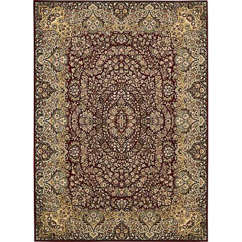 Nourison Antiquities ANT05 Burgundy Area Rug