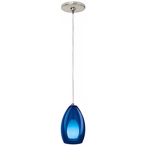 Fire Satin Nickel Cobalt Glass Tech Lighting Mini Pendant