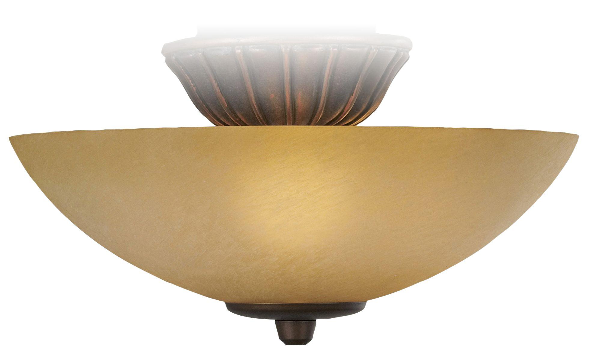 Scavo Glass Pull Chain Ceiling Fan Light Kit