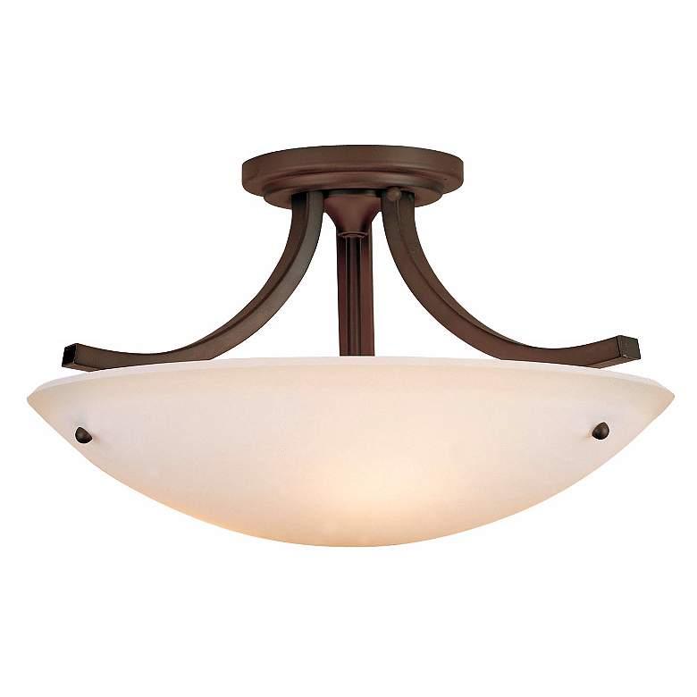 "Feiss Essential Bronze 16"" Wide Ceiling Light Fixture"