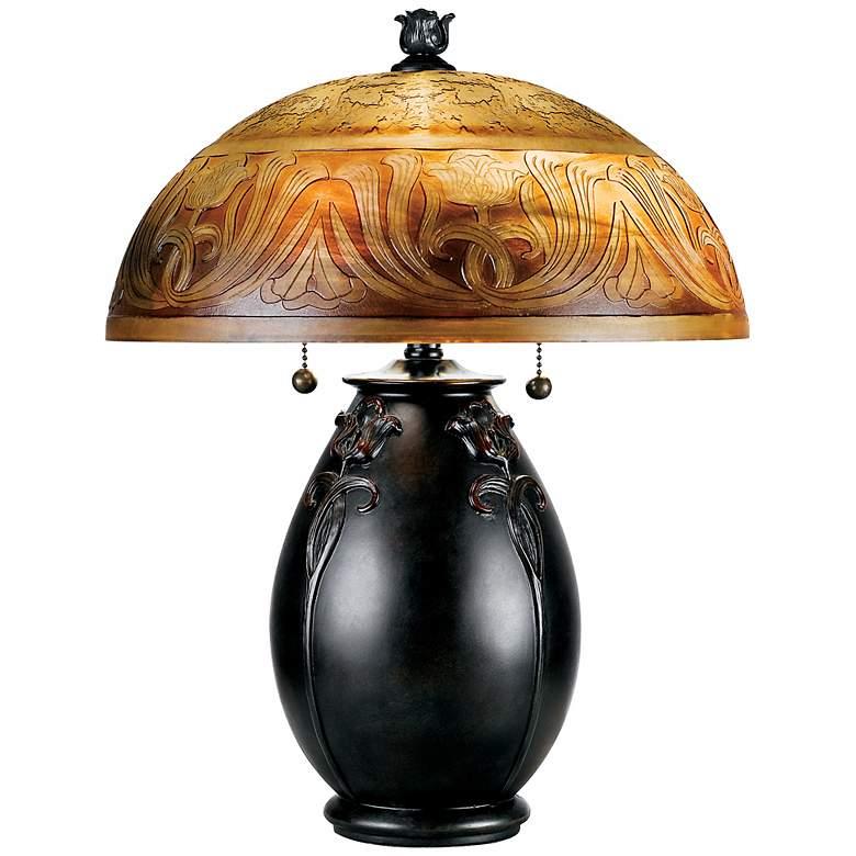 """Quoizel Glenhaven 18"""" High Art Nouveau Accent Table Lamp"""