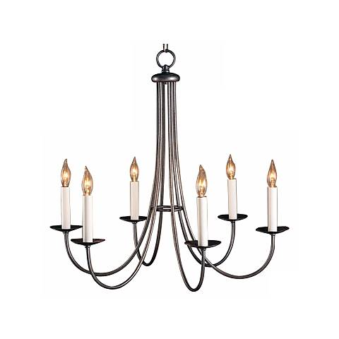 Hubbardton Forge Natural Iron Finish Six Light  Chandelier