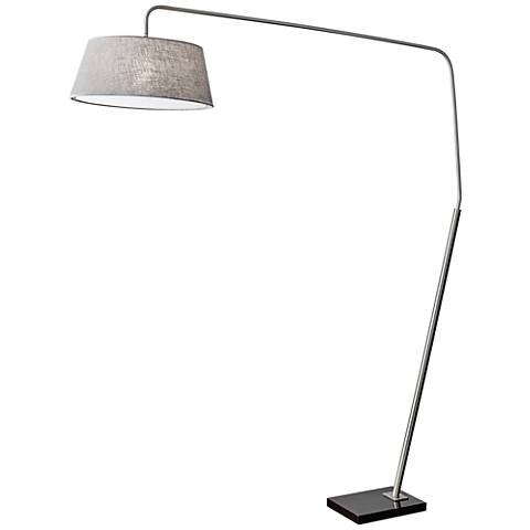 Ludlow Brushed Steel Arc Floor Lamp