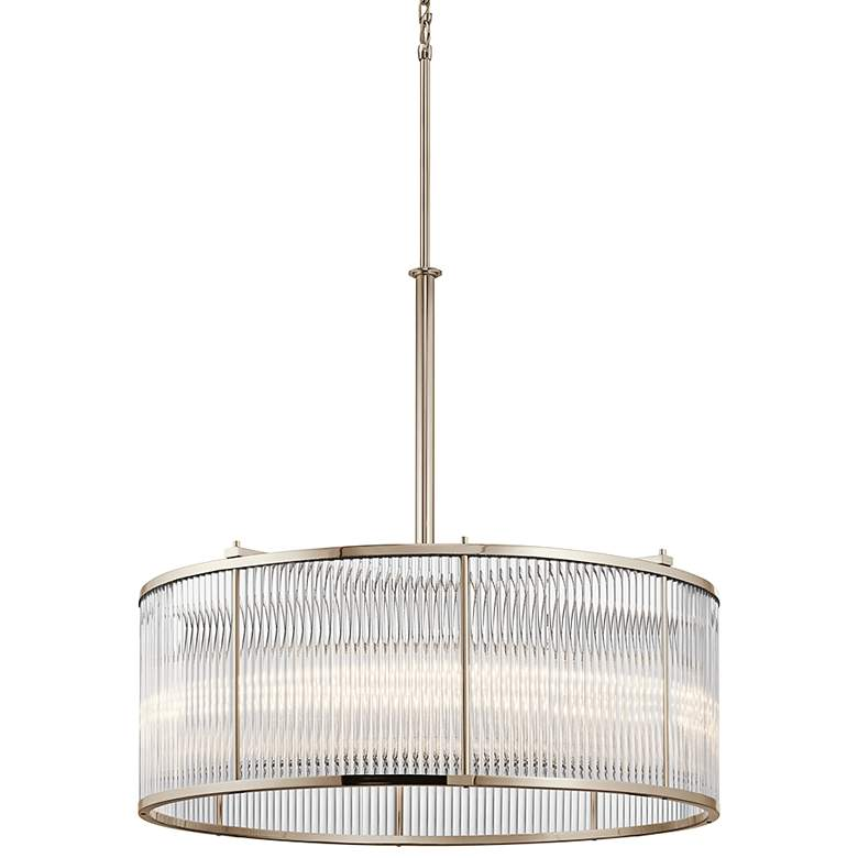 "Kichler Artina 32""W Polished Nickel 8-Light Round Pendant"