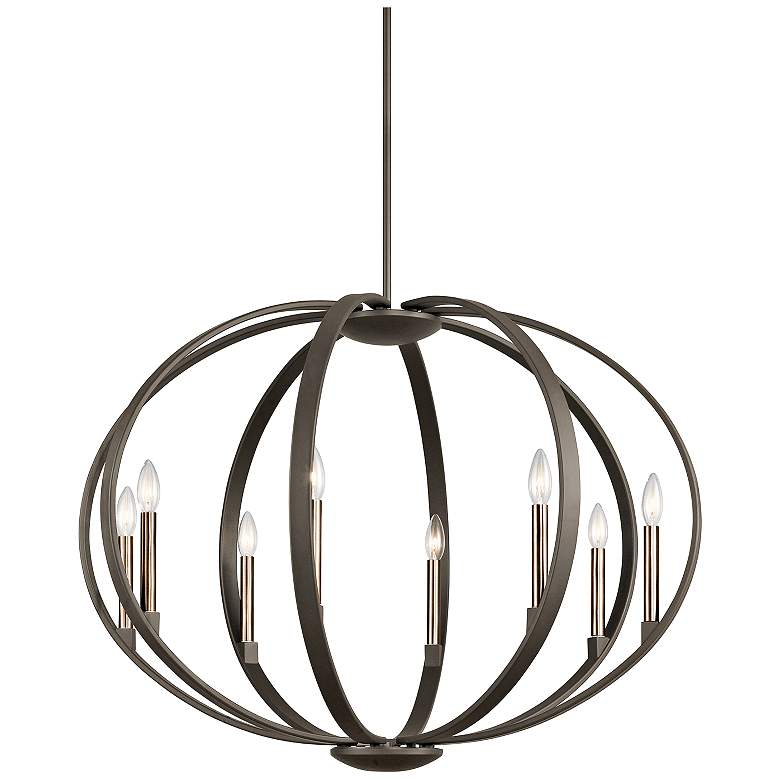 "Kichler Elata 36""W Olde Bronze 8-Light Orbital Chandelier"
