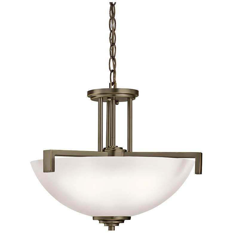 """Eileen 17 1/4""""W Bronze Convertible Pendant/Ceiling Light"""