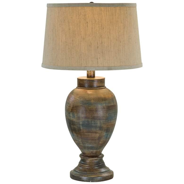 "Willaha 29 1/2"" High Stone Gold Table Lamp"