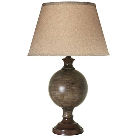 Amarilla Dark Sable Beige Table Lamp