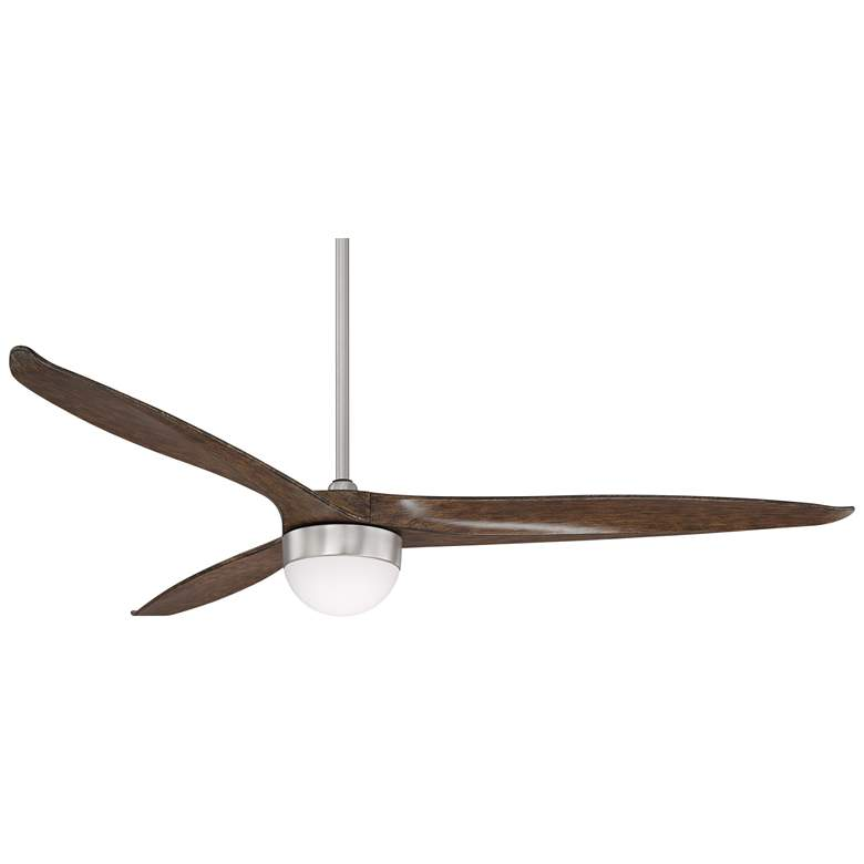 "60"" Tri-Lago Brushed Nickel LED Ceiling Fan"