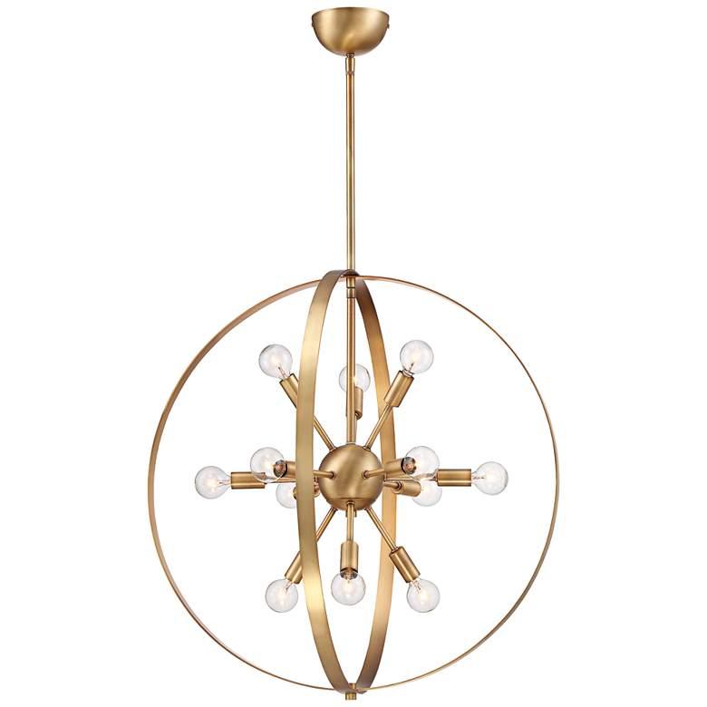 "Savoy House Marly 24 1/2""W Warm Brass 12-Light Chandelier"