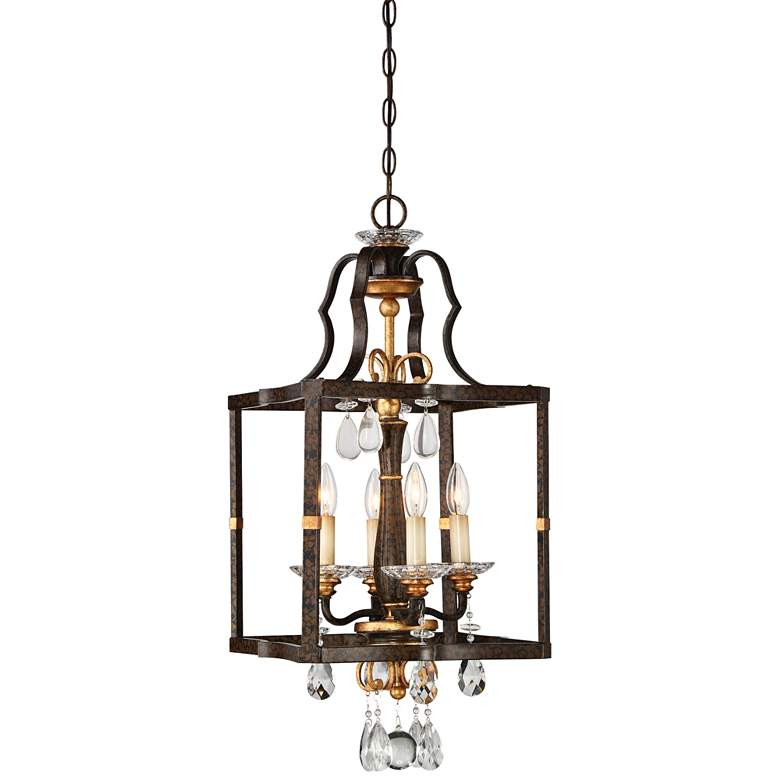 "Metropolitan Chateau Nobles 14"" Wide Raven Bronze 4-Light Pendant"