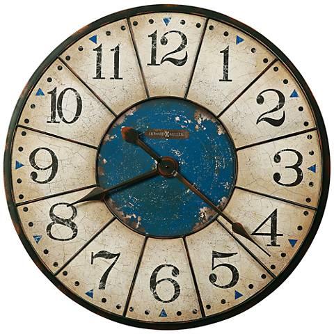 "Howard Miller Balto 30 3/4""W Rust-Black Wall Clock"