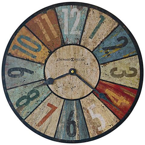 "Howard Miller Sylvan II Aged Multicolor 13"" Round Wall Clock"