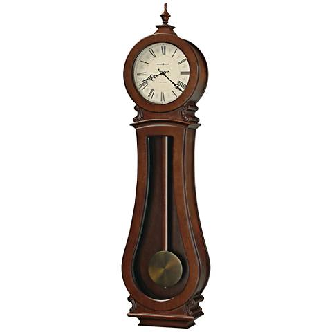 "Howard Miller Arendal II 49"" High Cherry Bordeaux Wall Clock"