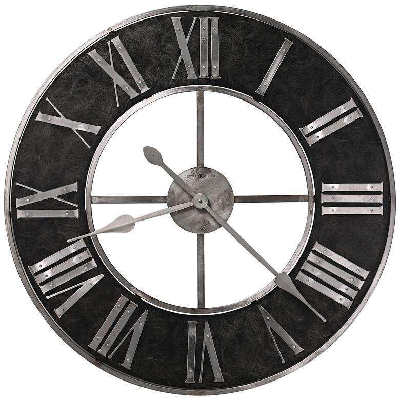"Howard Miller Dearborn 32"" Round Blackened Steel Wall Clock"