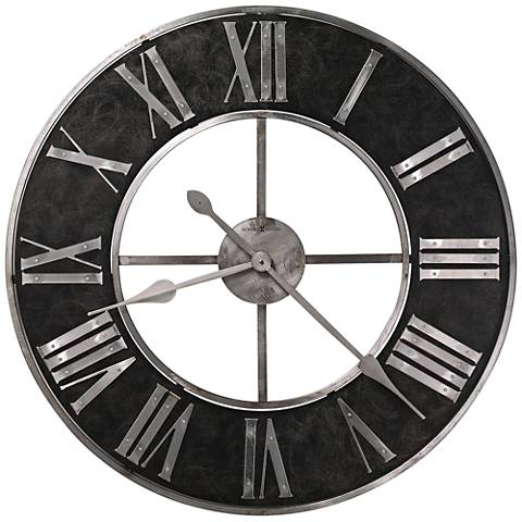 "Howard Miller Dearborn 32"" Round Blackened Steel Wall Clock"