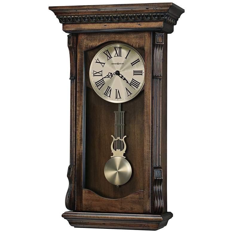 "Howard Miller Agatha 26""H Acadia Pendulum Wall Clock"