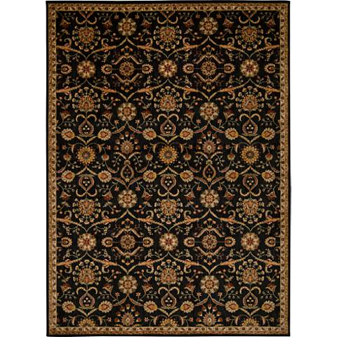 Kathy Ireland Ancient Times BAB01 Black Area Rug