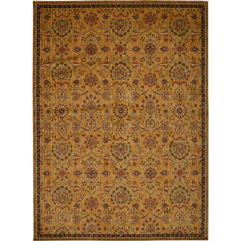 "Kathy Ireland Ancient Times BAB01 5'3""x7'5"" Gold Rug"