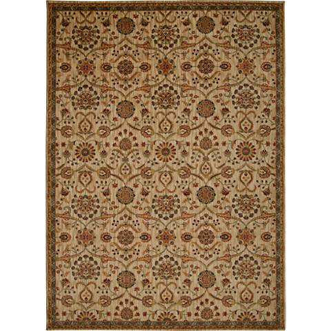 Kathy Ireland Ancient Times BAB01 Ivory Area Rug