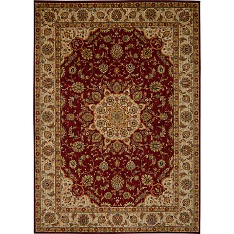Kathy Ireland Ancient Times BAB02 Red Area Rug