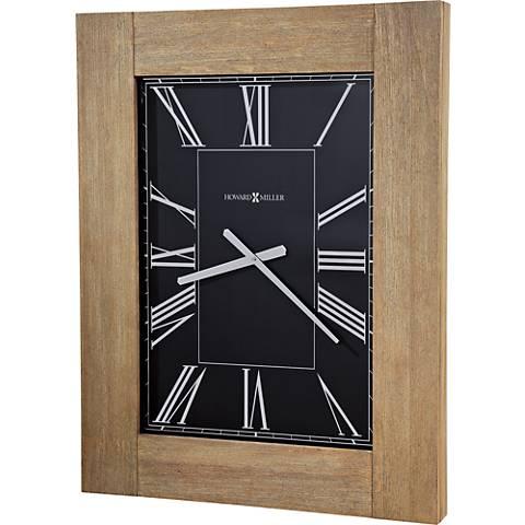 """Howard Miller Penrod 34 1/2"""" High Driftwood Wall Clock"""