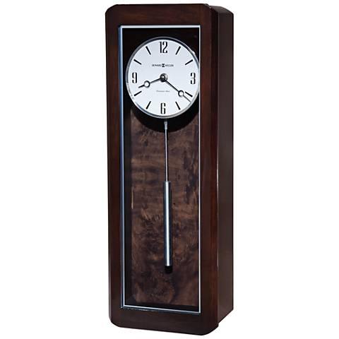 "Howard Miller Aaron 21""H Black Coffee Wall Clock"