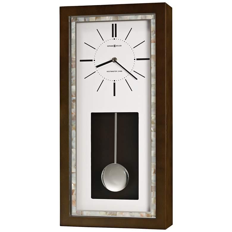 "Howard Miller Holden 22""H Espresso Pendulum Wall Clock"