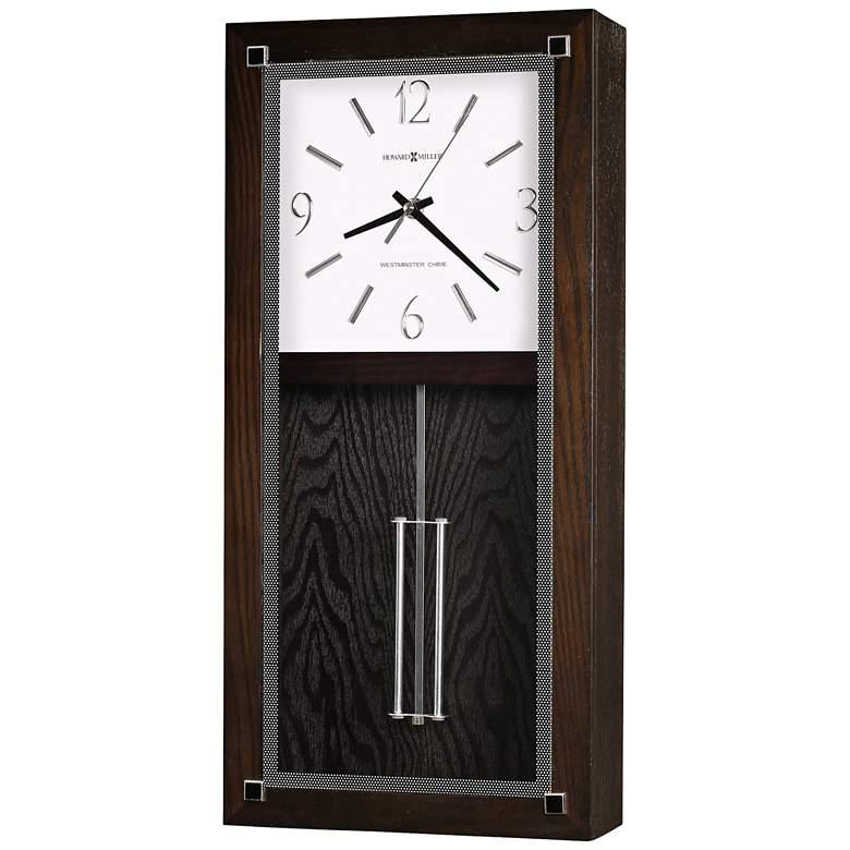 """Howard Miller Reese 21""""H Black Coffee Pendulum Wall"""