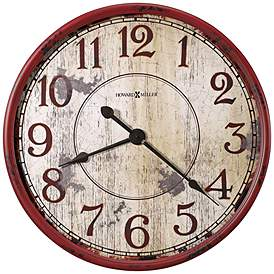 Howard Miller Back 32 W Antique Red Wall Clock