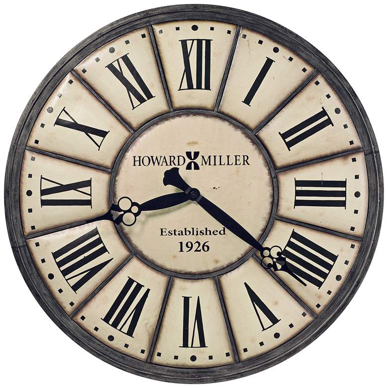 """Howard Miller Company Time 49"""" Round Off-White Wall Clock"""