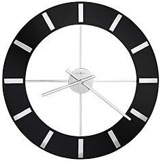 "Howard Miller Onyx 30"" Round High-Gloss Black Wall Clock"