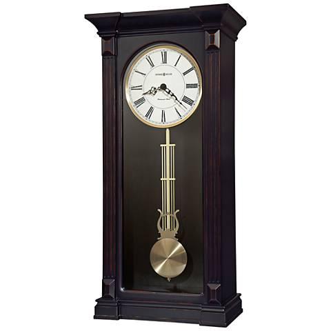 "Howard Miller Mia 25 3/4""H Worn Black Wall Clock"