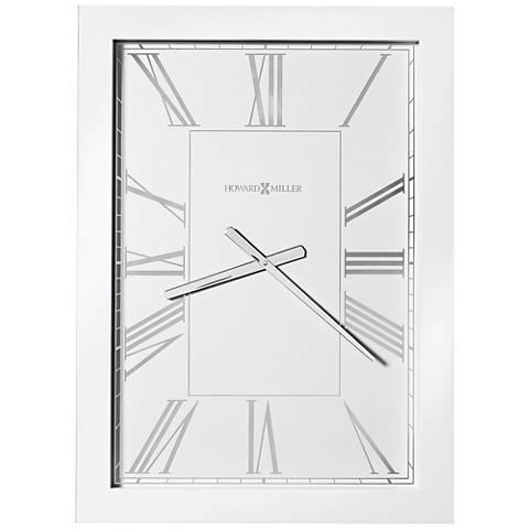 "Howard Miller Milo 29 1/2"" High White High-Gloss Wall Clock"