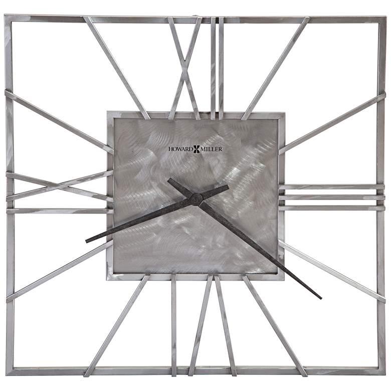 "Howard Miller Lorain 24"" Round Brushed Steel Wall"