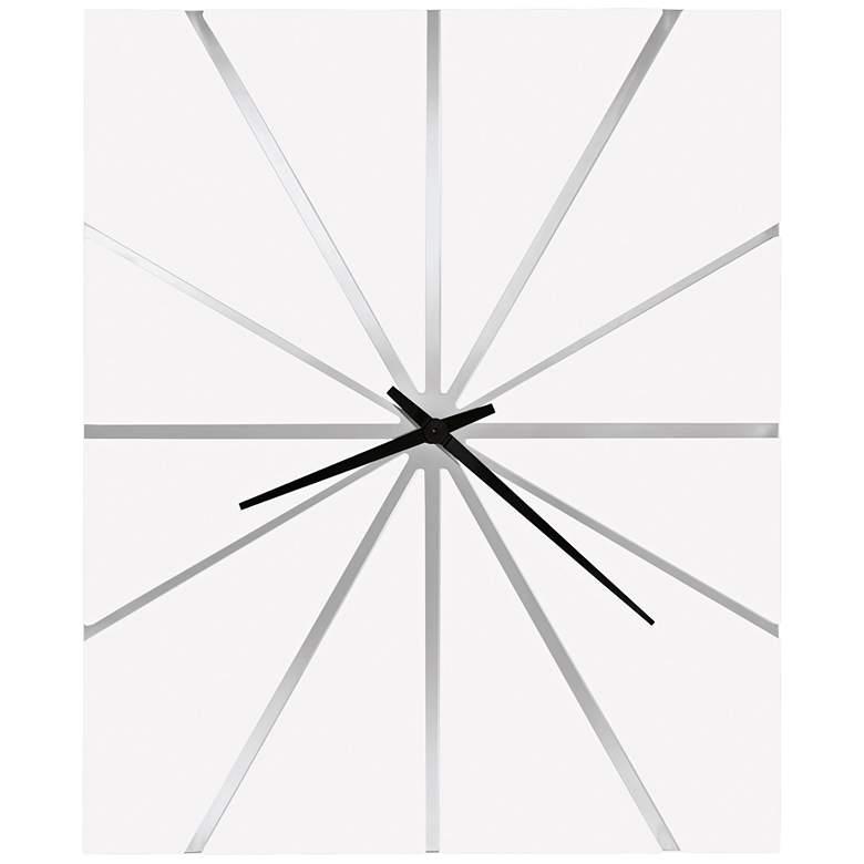 "Howard Miller Zander 25"" Wide Gloss White Wall Clock"
