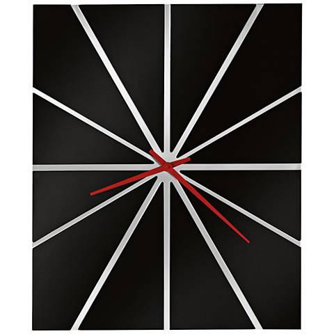 "Howard Miller Zander II 30""H Modern Gloss Black Wall Clock"