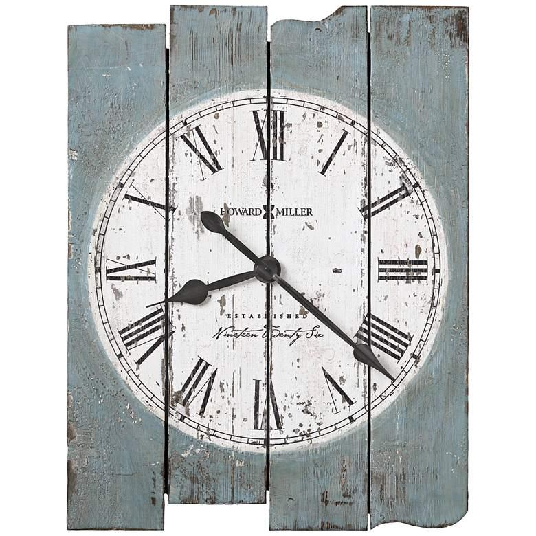 "Howard Miller Mack Road 30"" High Antique Blue Wall Clock"